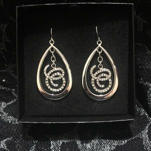 Beauticontrol Large Silver Earrings